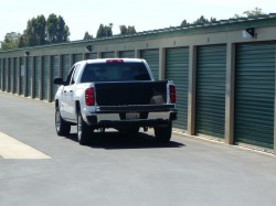 Outdoor, truck-accessible storage,